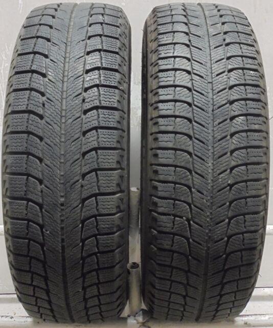 2 1956515 Michelin X Ice 5mm 195 65 15 Winter Snow Part Worn Tyres