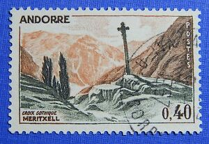 Temperate 1965 Andorra French 40c Scott# 165 Michel # 191 Used Cs29140 Soft And Antislippery Andorra Stamps