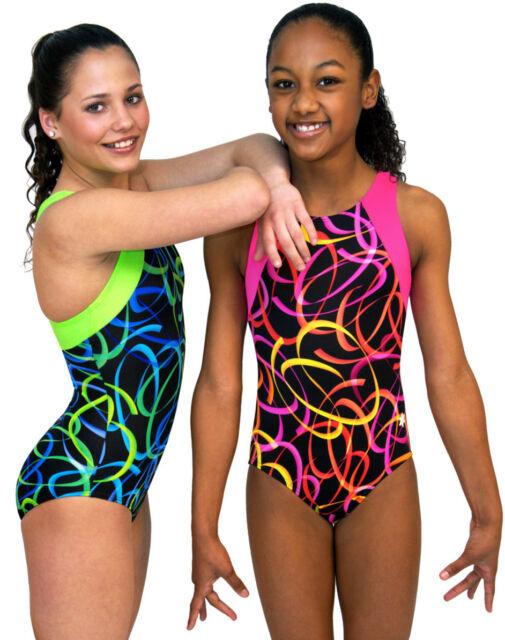 NEW!! Pink or Green Confetti Gymnastics Leotard by Snowflake Designs