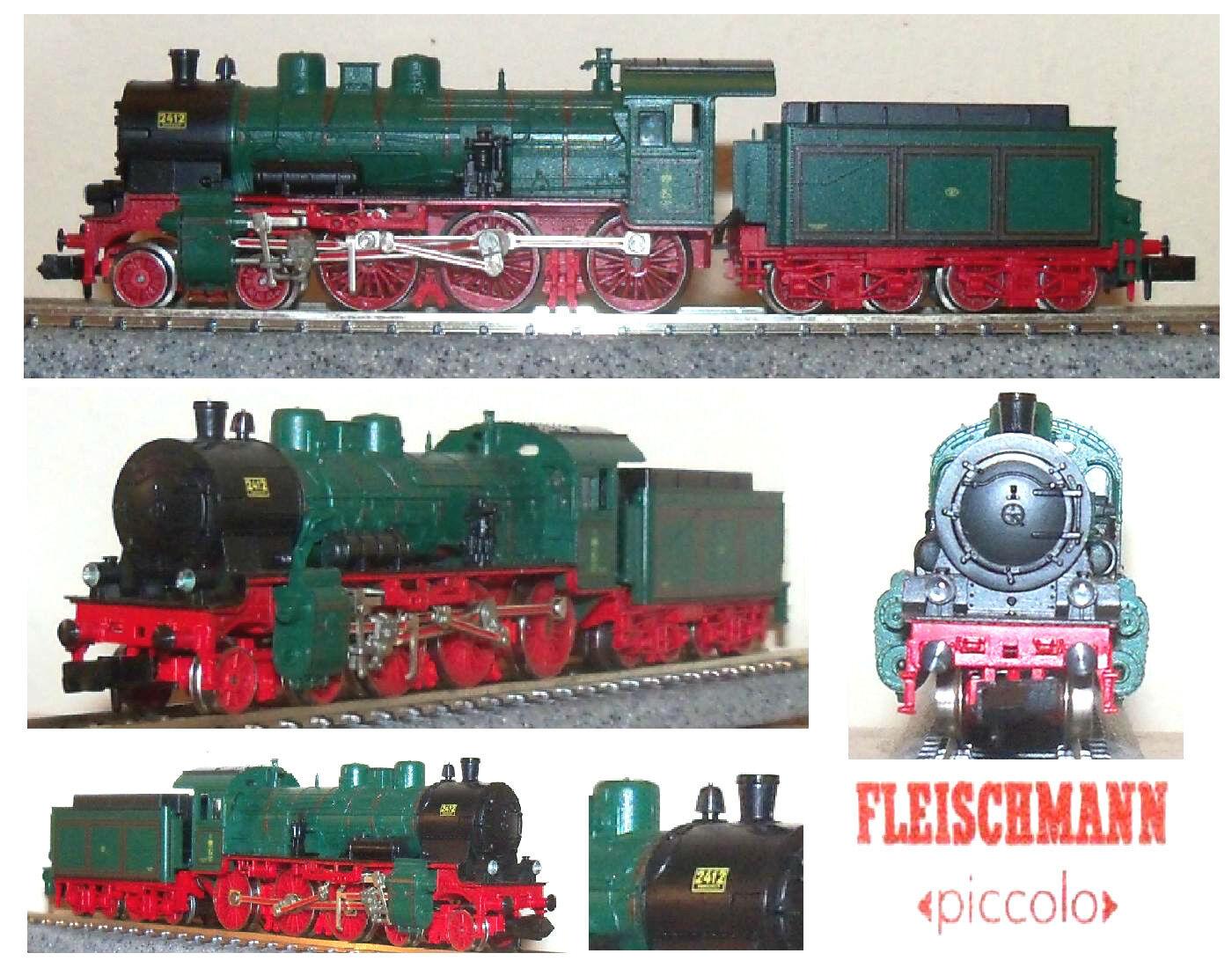 FLEISCHMANN FLEISCHMANN FLEISCHMANN 6586 RETRO LOCOMOTIVA A VAPORE LIMITED-EDITION Sr.BR38 4-6-0 SCALA-N cbe510