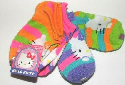 NWT 6 Pairs Girls Socks Shoe Size S// 4-7 1//2 Faded Glory Multi-Colors