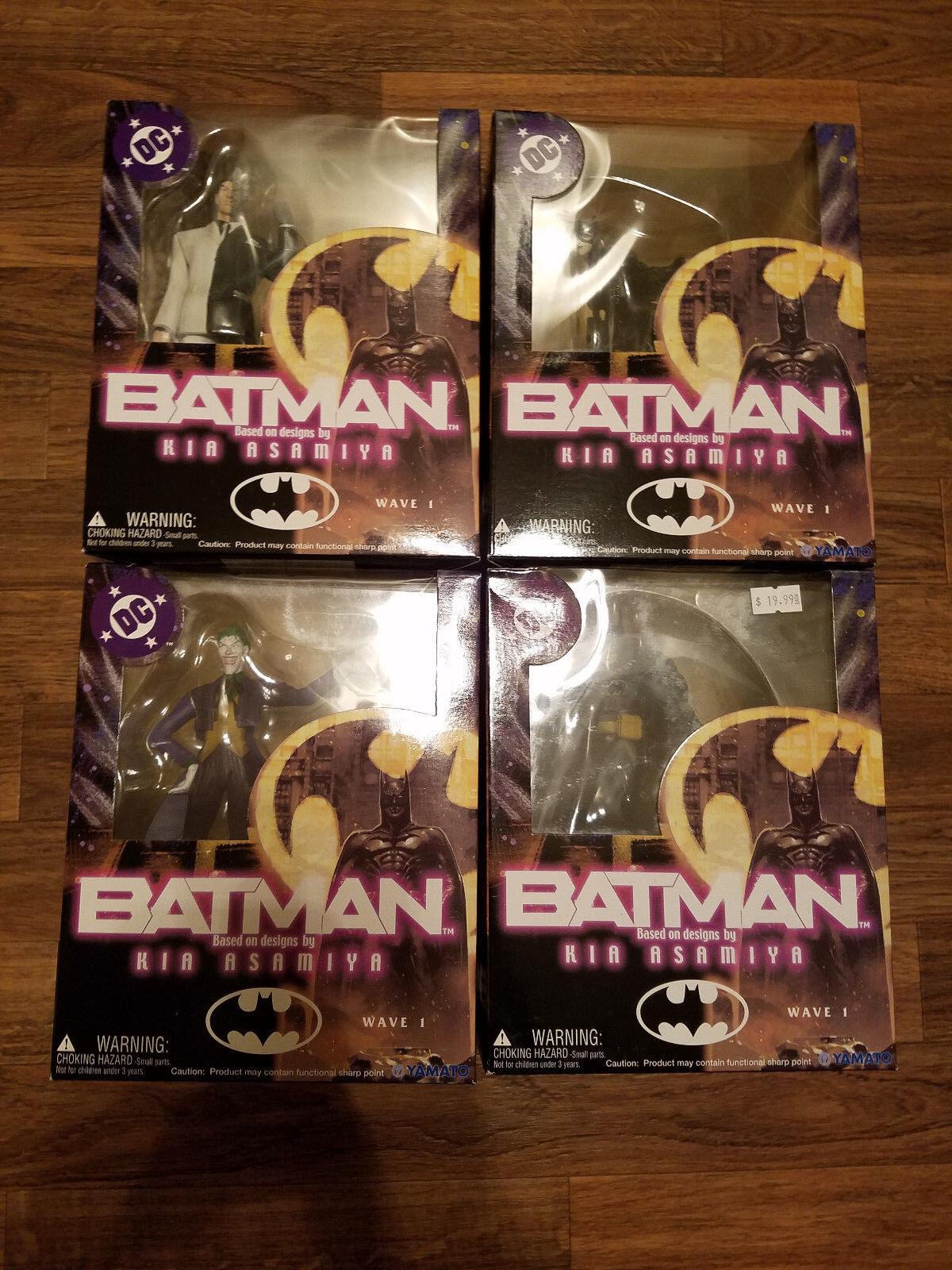 NEW DC Batman Catwoman Two Face Joker Kia Asamiya figure set Yamato Wave 1