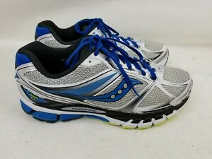 baada916f1 Details about MEN'S SAUCONY GUIDE COMFORT WHITE/GRAY/BLUE RUNNING WALKING  SHOES SZ 9M