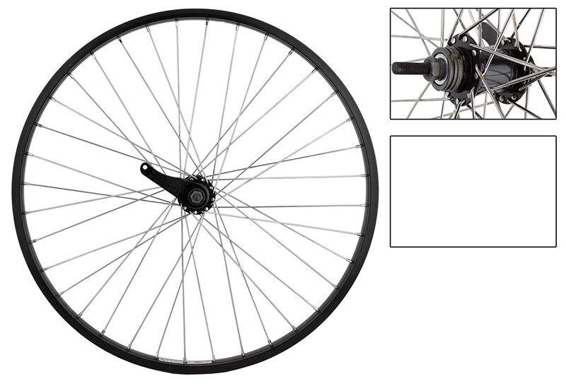 WM Wheel  Rear 26x1.75 559x25 Aly Bk 36 Kt Cb Bkb Bk 110mm 12gss W trim Kit