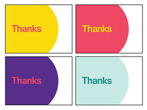 """4-Color, eBay-Branded 5.5"""" x 4"""" Thank You Postcards Multi-Pack"""
