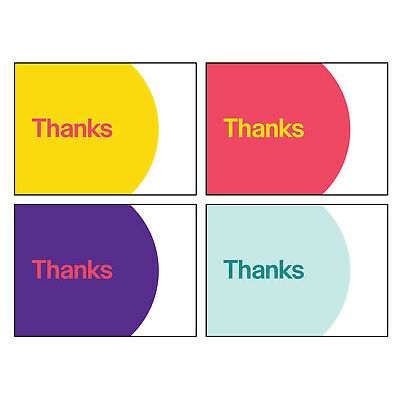 "4-Color, eBay-Branded 5.5"" x 4"" Thank You Postcards Multi-Pack"