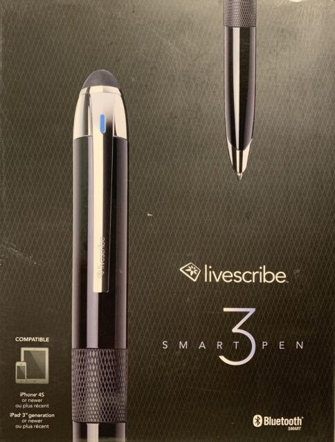 Livescribe 3 Smartpen Black Smart Pen (New in Box)