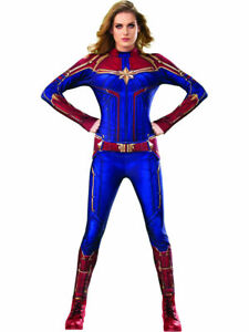 Womens Captain Marvel Secret Wishes Hero Suit Costume Officially Licensed Ebay Your little herione will feel strong and powerful when dressed in this deluxe captain marvel hero suit. ebay