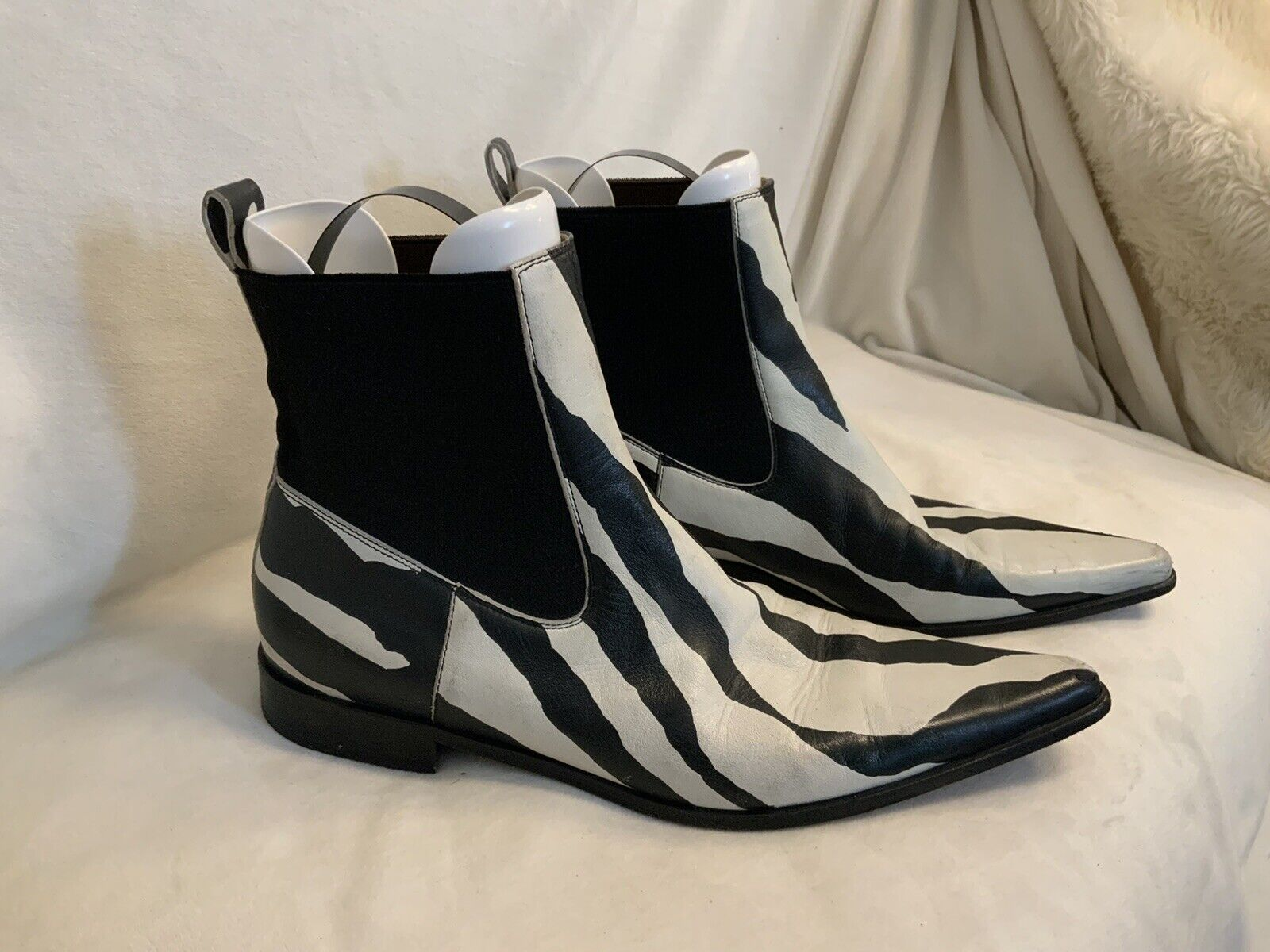 Dolce And Gabbana Ankle Boots Zebra Print Leather  - image 1