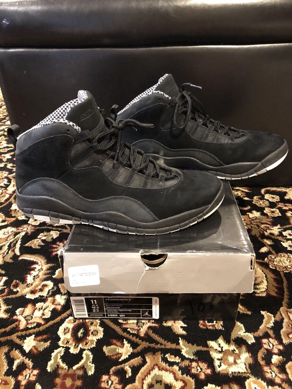 purchase cheap 8a25b 0caa0 Air Air Air Jordan Retro 10 Stealth Negro   Blanco Suede talla 10,5 pre
