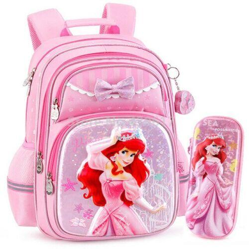 Fashion Little Mermaid Princess Ariel Girls School Bag Pencil Case For Kids Chil