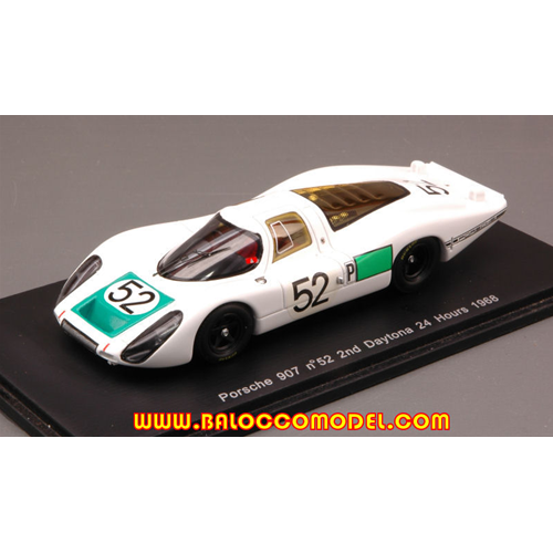 PORSCHE 908 N.52 2nd DAYTONA 1968 SIFFERT-HERRMANN-MITTER 1:43 Spark Model