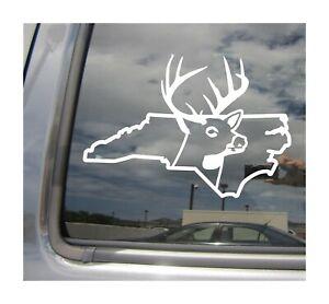 Deer-Hunter-Caza-Buck-de-Carolina-del-Norte-Vinilo-Autoadhesivo-Con-Coche-al-Aire-Libre-01237