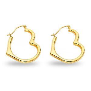 14k Yellow Gold Claddagh Hollow Hoop Earrings, 12mm X 12mm