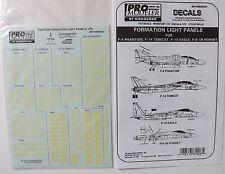1/72 Pro Modeler Decals FORMATION LIGHT PANELS FITS F-4 / F-14 / F-15 / F/A-18