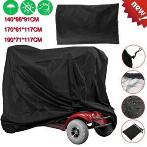 Mobility-Scooter-Wheelchair-Waterproof-Storage-for-Cover-UV-Rain-Protector-Black