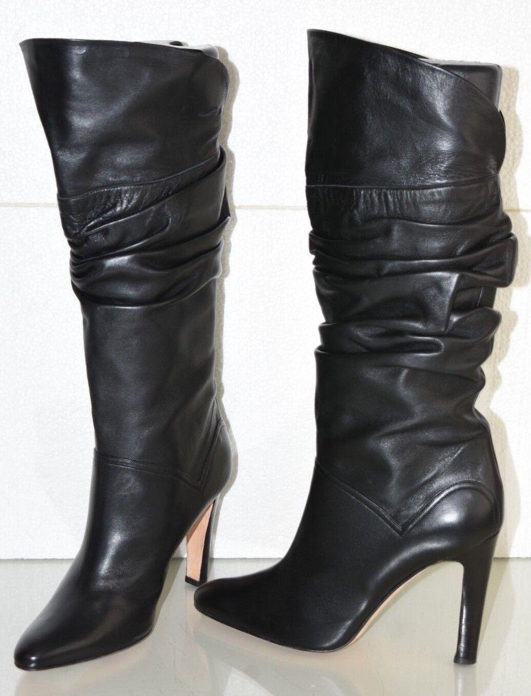 1710 Nueva Manolo Blahnik se reunieron Suave Cuero botas Negro Tacones Zapatos 39.5  Mercancía de alta calidad y servicio conveniente y honesto.