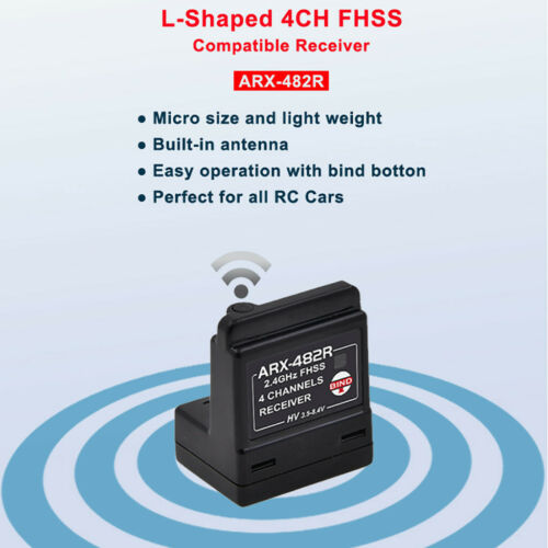 ARX-482R Compatible FH3// FH4T 4 Channel Surface Receiver for RC Car