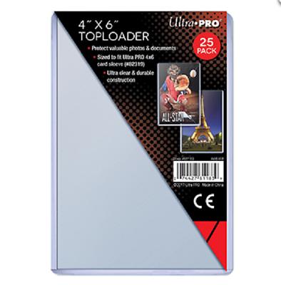 25x Ultra Pro 4 x 6 Öffnung Oben Kartenfach Foto Postkarte 10.2cmx15.2cm