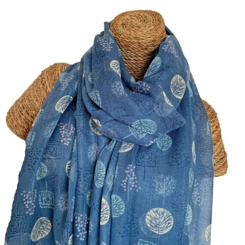 LADIES SCARF WITH TREES DESIGN SUPERB SOFT QUALITY TREE IN WOODS SCARF