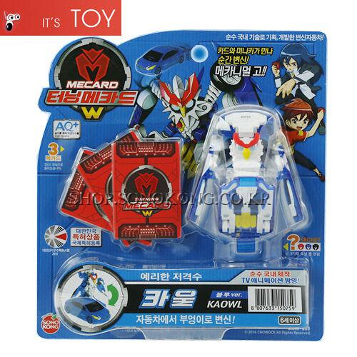 Owl Transformer Korean Robot Car Toy Sonokong Turning Mecard W KAOWL Blue ver