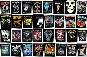 BACK PATCHES patch punk metal misfits exploited maiden motorhead ac/dc metallica