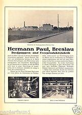 Dachpappe Paul Breslau XL Reklame 1923 Teerprodukte Teer Dachpappenfabrik Ad
