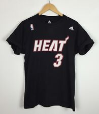 NBA ADIDAS MIAMI HEART DWYANE WADE #3 BLACK BASKETBALL T SHIRT TOP SPORTS UK S