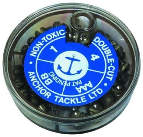 Anchor Split Shot 4 Division Double Cut Soft Safe Waggler Fishing Floats Weights