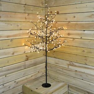 69d1ce70cdb2 1.5m (5ft) Outdoor / Indoor Cherry Blossom Tree with 200 Warm White ...