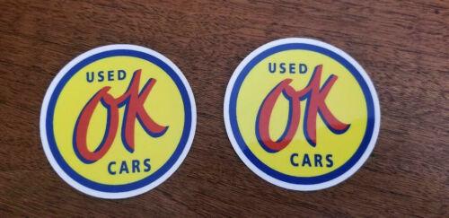 "OK Used Cars 3/""x3/"" Stickers"