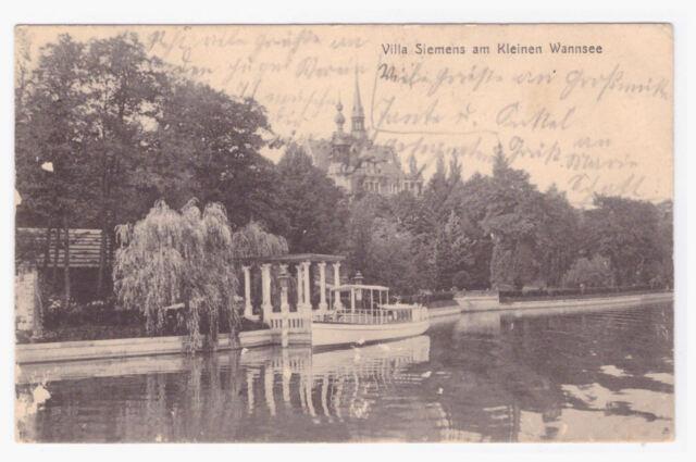 Original AK Berlin Wannsee -Villa Siemens--