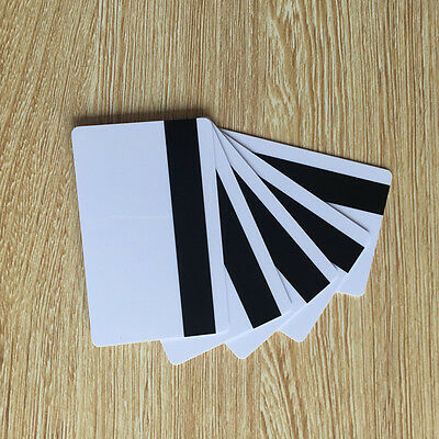 magnetic stripe Hico 1-3 CR80 White Plastic Key Card 30Mil - 100pcs