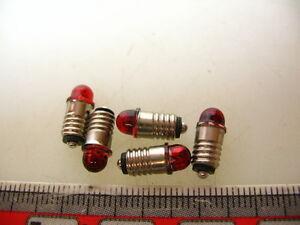 5-Stueck-LED-Leuchtmittel-E5-5-22V-ROT-Spur-H0-TT-N-NEU-LED5-R
