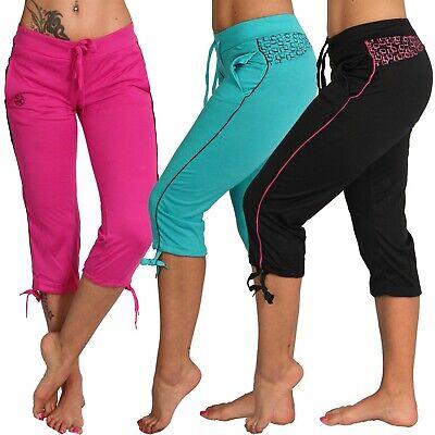 3/4 Niedrige Leichte Jogging Capri Hose Sport Farbiges Band Fitness Sommer Yoga Einfach Zu Reparieren