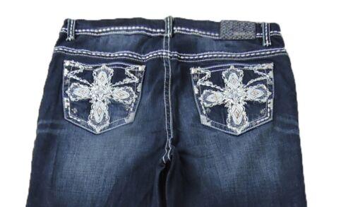 Fed Plus Cross Stretch Women Bootcut Jeans Dark In Mid Rise Grace Blue La zWB8qA