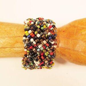 1-1-2-034-Braided-Multi-Color-Handmade-Stretch-Elastic-Seed-Bead-Cuff-Bracelet