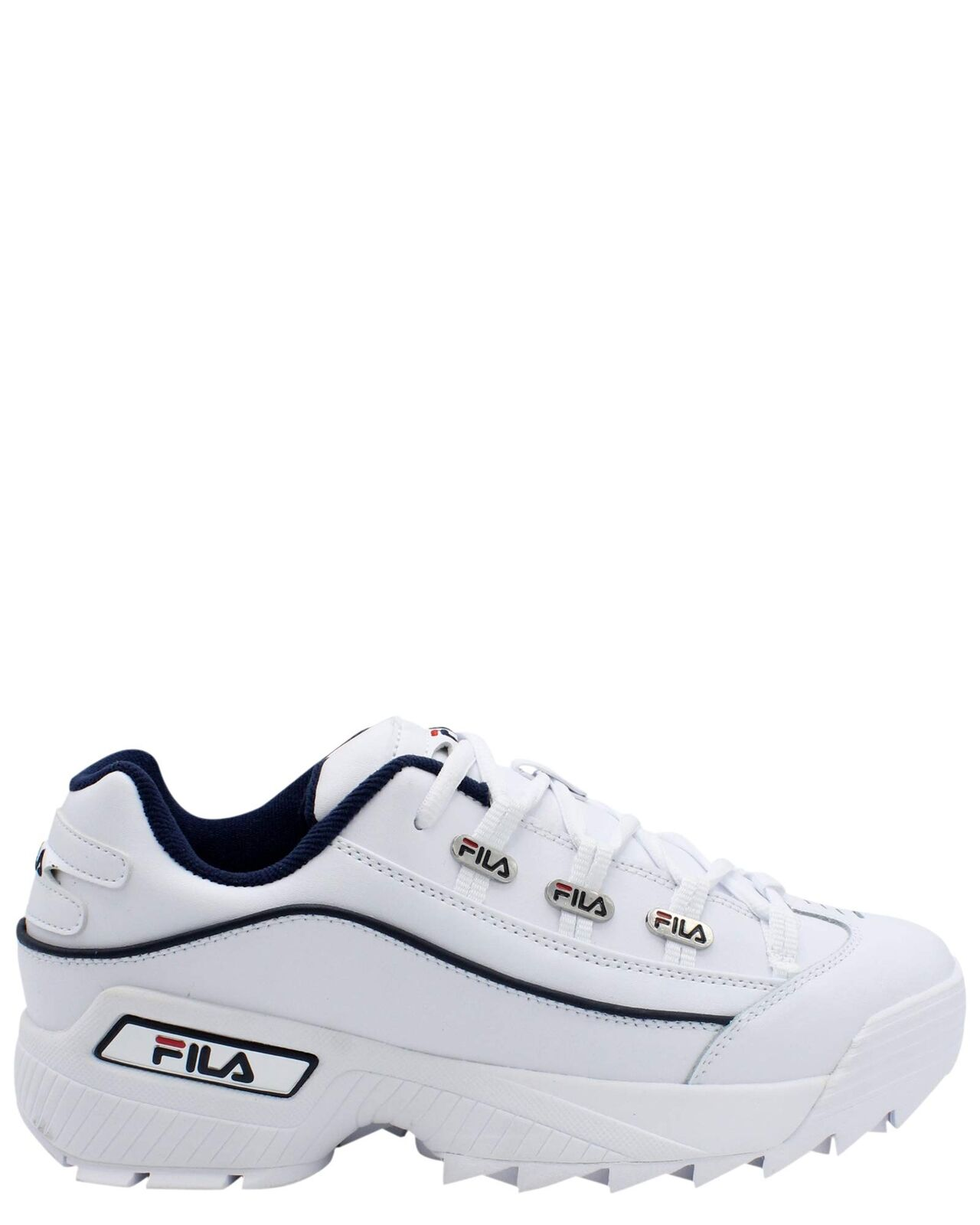 Fila 1CM00408-125  Zapatillas para hombre Hometown blancoooo Azul Marino Rojo