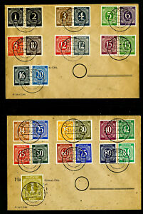 Germany-Stamps-1943-Set-of-27-Stamps-on-2-neat-Covers-Clean