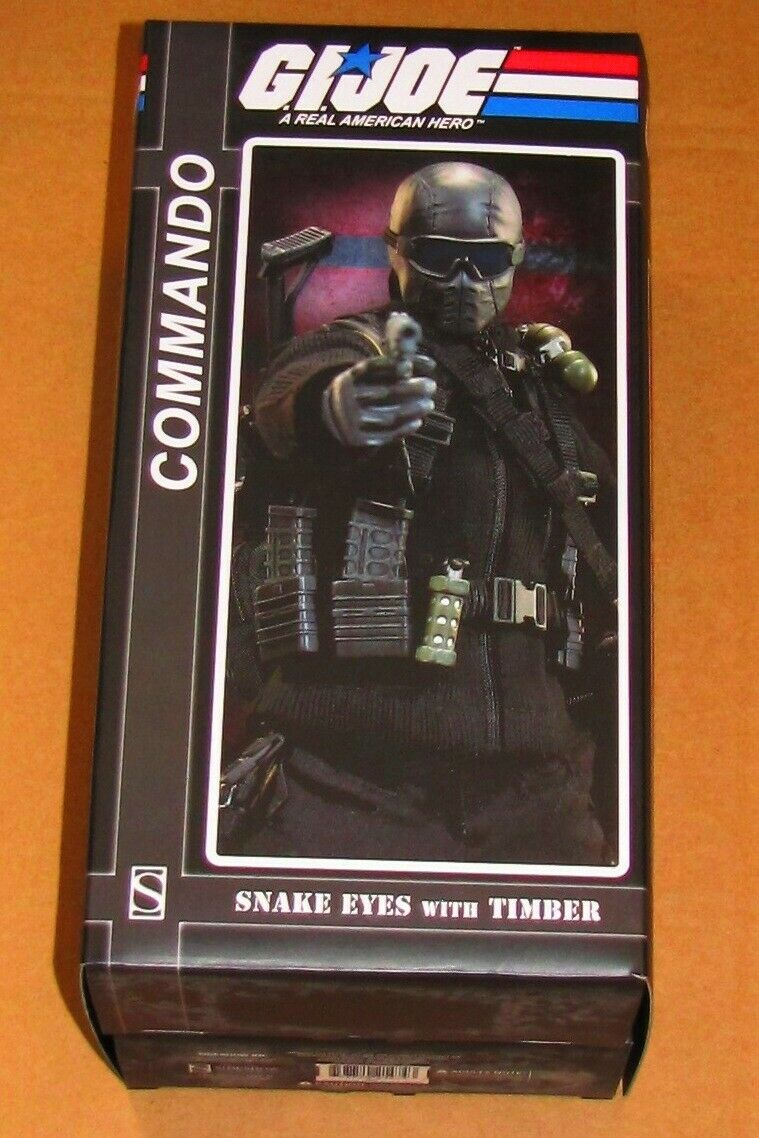 Sideshow GI Joe Snake Eyes & Timber 1 6 Scale Action Figure 12  Cobra Assassin