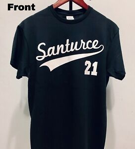 brand new 0b19d a7229 Details about Roberto Clemente Santurce 21 Puerto Rico Baseball T-shirt  Size Small