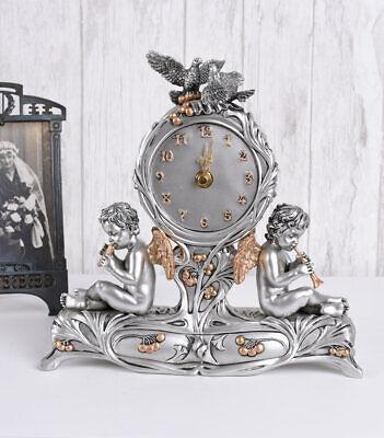 Kaminuhr Empire Tischuhr Amor /& Psyche Allegorie Uhr Barock Figur Dekouhr Antik