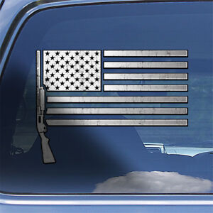 USA-Flag-12-ga-Decal-Sticker-bird-duck-hunting-window-decal-shotgun-sticker