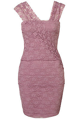 Topshop lace bandage bodycon by Dress Up by Topshop UK 14 in Lilac ( New )
