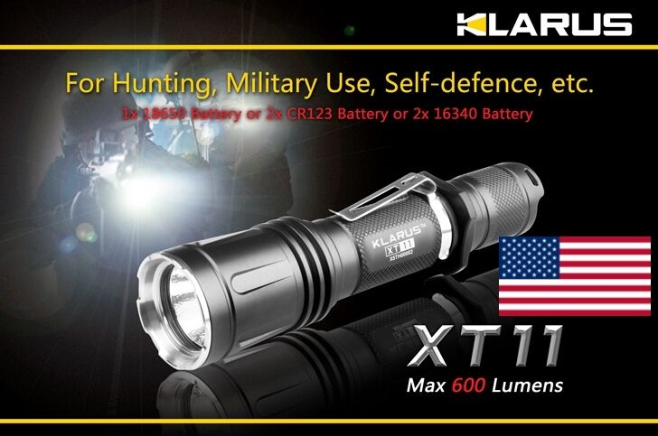 NEW Klarus XT11 XM-L 820 Lumen Dual 18650 CR123 Dual Lumen Switch Tactical Flashlight cf82a2
