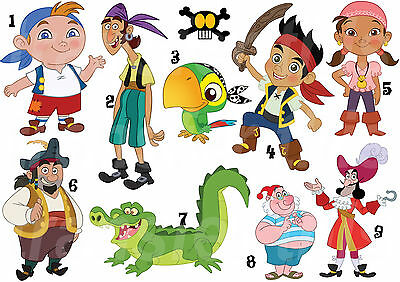 JAKE NEVERLAND PIRATES IZZY WALL DECAL OR IRON ON TRANSFER TSHIRT FABRICS LOT P