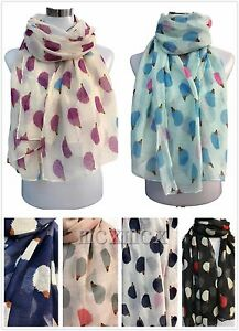 Women-Ladies-Long-Summer-Style-Hedgehog-Print-Pattern-Shawl-Scarf-Warp-Stole