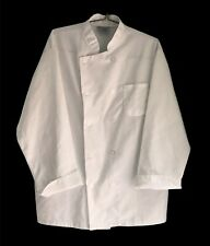 King Menus Apparel Unisex White Chef Jacket Coat Nwot Buttons Folded Cuff Size L