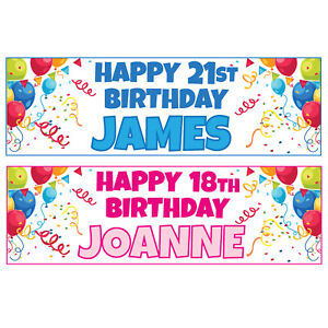 Buy-1-Get-1-Free-Large-Personalised-Birthday-Banners-Balloons-900mm-x-300mm