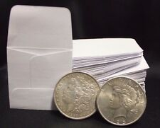 50 2x2 White Paper Coin Stamp Envelopes GUARDHOUSE Archival Acid & Sulpher Free
